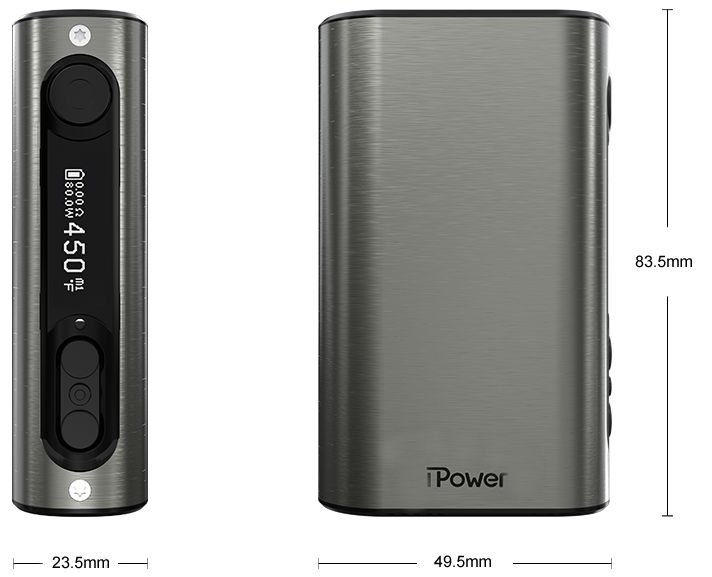 размеры батарейного мода eleaf ipower